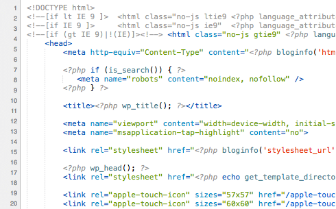 Web developer code
